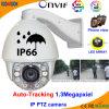 Câmera de alta velocidade da abóbada PTZ do IP do Auto-Tracking 1.3MP
