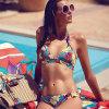 Telas de nylon da impressão do Spandex das mulheres para o Swimwear do biquini de Hurley