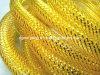El Amarillo dorado Deco tubo flexible de malla para envoltura de regalos