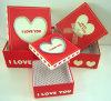 Matt negro Lamination Gift Packaging Box con Spot ULTRAVIOLETA
