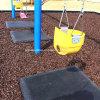 Les enfants Aire de jeux en caoutchouc de protection de faire pivoter le panneau