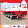 de 20-40FT de conteneur de camion du bâti 3 d'essieu de lit plat remorque élevée semi