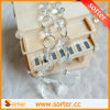 Cortina de cristal do grânulo do vinho novo moderno do estilo para o casamento & a decoração Home