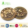 工場供給カスタム旧式なプラスチックの箱が付いている金によってめっきされるロッジのロゴのインドの古い収集できる硬貨