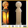 Роскошный песчаника Lampstandard скульптуры для дома и сада оформление