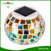 太陽動力を与えられたカラー変更夜軽いモザイク・ガラスの球のギフトライト