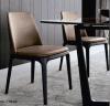 Présidence en bois de restaurant d'hôtel de cuir élégant de tissu de qualité