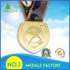 Золотистое медаль с спортом встречает тесемку Customzied