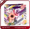 El regalo floral diario caliente de la lámina para gofrar empaqueta las bolsas de papel del regalo con el Hangtag