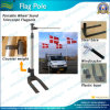 6mtr de draagbare Vlaggestok van het Aluminium van het Wiel van de Auto (a-NF21M01004)