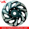 Shape de cristal Diamond Grinding Cup Wheels para Concrete