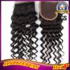 4X4 Curly Virgin Human brasiliano Hair Lace Closure