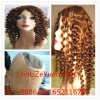 100% de qualidade superior Curlyvirgin Cabelos Brasileiro Full Lace Peruca