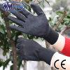 Ладони нитрила Nmsafety перчатка безопасности нитрила Sandy черной покрытая