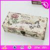 Caixas de madeira pequenas baratas por atacado W18A013 de teste padrão da flor e de borboleta