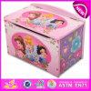 Clásica precioso diseño promocional caja de madera de juguete, decoración casera creativa de almacenamiento de madera caja de juguetes W08c129
