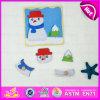 2015年のクリスマスGift Wooden Jigsaw Puzzle Set Toy、Snowman Shape Wooden Puzzle Set Toy、Knobs W14m072のWooden Toy Puzzle Game