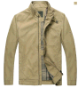 Revestimento de pé do colar do algodão de meia idade da mola/do Zipper da forma homens Top-Quality do outono