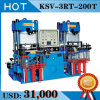 Vakuumsilikon-Gummi-Komprimierung-Formteil-hydraulische Presse maschinell hergestellt in China (KSV)