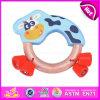 2015 het Nieuwe Stuk speelgoed van de Rammelaar van de Hand van de Baby van de Aankomst Goedkope, het Houten Muzikale Stuk speelgoed van de Rammelaar van de Baby van het Instrument, het Grappige Piepende Stuk speelgoed W07I120 van de Rammelaar van de Baby van het Spel