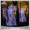 Dekoration-Hochzeits-Licht des Feiertags-im Freienmetallweißes Winkel-LED