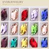 공장 가격 각종 색깔을%s 가진 아름다운 S 모양 결정 꿰매는 돌