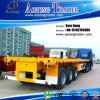 Tri-Axle 40ft Flat Deck Container Trailer with Head Board