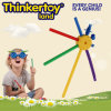 Bloco de apartamentos colorido Toys de DIY Educational para 3-6 Children