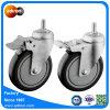 100 kg Capacité 5 roue en polyuréthane Castor de verrouillage de la tige à filetage