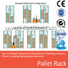 Système lourd de défilement ligne par ligne de palette de crémaillère de palette de stockage en rayons pour l'usine