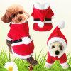 Paño relleno aduana del perro de la Navidad de la felpa