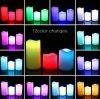 Conjunto del telecontrol sin llama del RGB de la vela de 3 LED con el temporizador y 7 velas con pilas cambiantes del color 12 LED