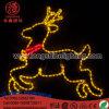 Luces al aire libre de la decoración del día de fiesta del LED de la iluminación de la Navidad de la luz grande del reno