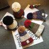 Оптовая торговля моды яркие зимние женщин Beanie Red Hat POM POM