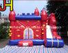 Colorido castillo inflable saltando Bouncer con tobogán para niños