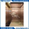Сталь зеркала лифта дела Rose-Золотистая