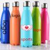 Logotipo personalizado 500ml barata de acero inoxidable en forma de Cola de botellas de agua