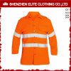 높은 시정 사려깊은 자수 안전 셔츠 오렌지 (ELTHVSI-13)