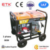 conjunto de generador diesel 5kw con la batería de gran alcance (FX6800E)