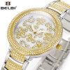 Belbi aus rostfreiem Stahl Qurtz analoge Uhr in der Form-Art für modernes Ladyies.
