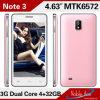 O Note o mais barato 3 3G Smart Phone 1.3GHz Duplo-Core