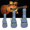 21 23 Ukulele popular de la lona de la mano doble de la correa de 26 pulgadas llevan la caja completada algodón del bolso para los accesorios de las piezas de la guitarra del Ukulele nacionales