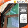 Gute Qualitätsfenster, thermischer Bruch-Aluminiumneigung u. rote Eichen-Holz-Korn-Fertigstellungs-Holz-Farbe des Drehung-Fenster-3D