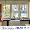 La glace du profil UPVC de conque a arrêté Windows pour la cuisine