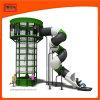 運動場の管のスライドが付いているトランポリンのくものClmbing屋内タワー
