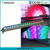 옥외 18PCS 10W RGBW LED 벽 세탁기 빛