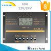 Contrôleur de charge/régulateur solaires 60AMP 12V/24V pour le système solaire S60