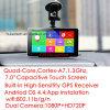 Tablette 2017 preiswerter androider Bluetooth externer 3G PC mit GPS Navgation, 2.0mega Auto volles HD1080p DVR, Doppelauto-Kamera; Bluetooth 4.0; FM Übermittler für Auto-Audio;