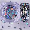 Лазерный голографических Flakies смешанных круглые Блестящие цветные лаки лак для ногтей пайетками Paillette