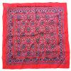 El producto del OEM de la fábrica de China crea la bufanda roja del pañuelo para requisitos particulares de Paisley del algodón de la impresión